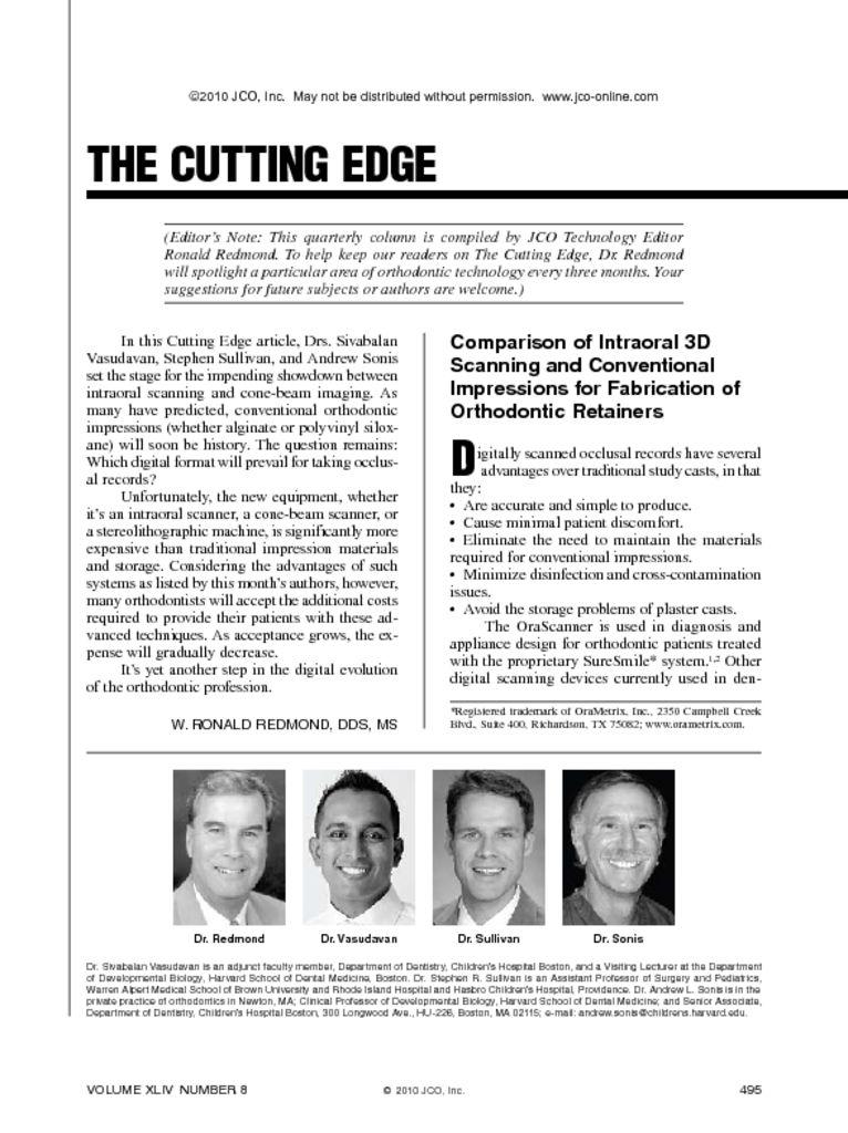 thumbnail of Digital Impression Scanning Efficacy